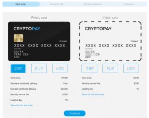 Оформить онлайн карту Cryptopay (Криптопей)