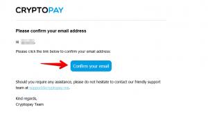 Cryptopay подтверждение регистрации