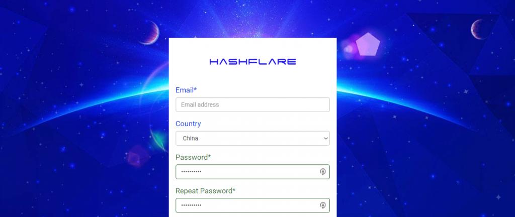 HashFlare.io registration online