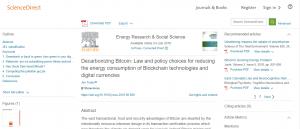 Decarbonizing Bitcoin (Декарбонизация Биткоина)